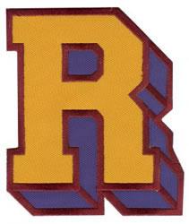 Sport Block R embroidery design