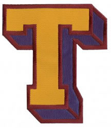 Sport Block T embroidery design