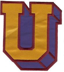 Sport Block U embroidery design