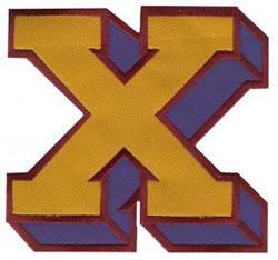 Sport Block X embroidery design