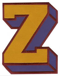 Sport Block Z embroidery design