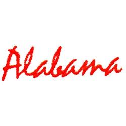 Alabama Text embroidery design