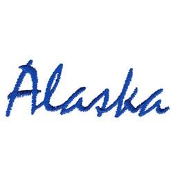 Alaska Text embroidery design
