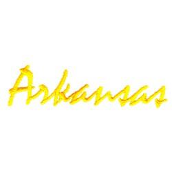 Arkansas Text embroidery design