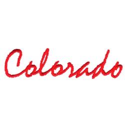 Colorado Text embroidery design