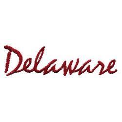 Deleware Text embroidery design