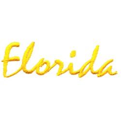 Florida Text embroidery design