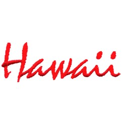 Hawaii Text embroidery design