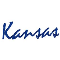 Kansas Text embroidery design
