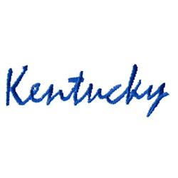 Kentucky Text embroidery design