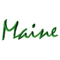 Maine Text embroidery design