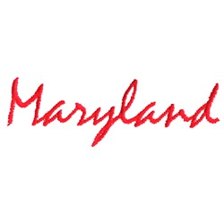 Maryland Text embroidery design