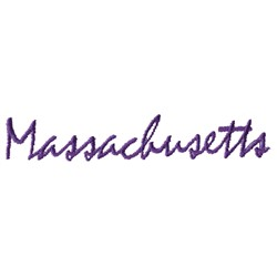 Massachusetts Text embroidery design