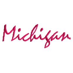 Michigan Text embroidery design