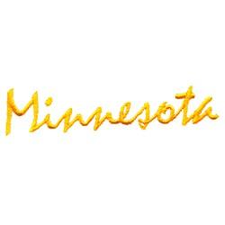 Minnesota Text embroidery design