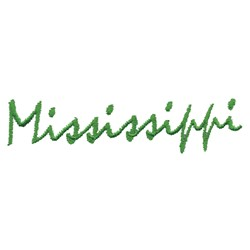 Mississippi Text embroidery design