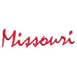 Missouri Text embroidery design