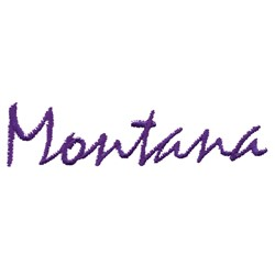Montana Text embroidery design