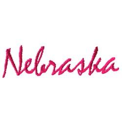 Nebraska Text embroidery design