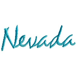 Nevada Text embroidery design