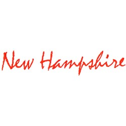 New Hampshire Text embroidery design