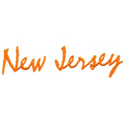 New Jersey Text embroidery design