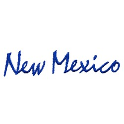 New Mexico Text embroidery design