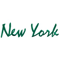 New York Text embroidery design