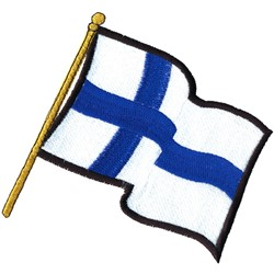 Finnish Flag embroidery design