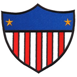 Patriotic Shield embroidery design