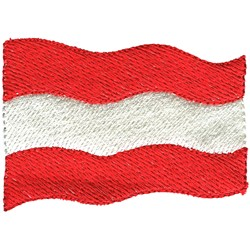 Austria Flag embroidery design
