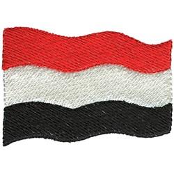 Yemen Flag embroidery design