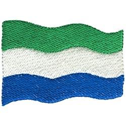 Sierra Leone Flag embroidery design