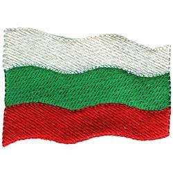 Bulgaria Flag embroidery design