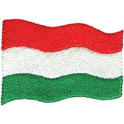Hungary Flag embroidery design
