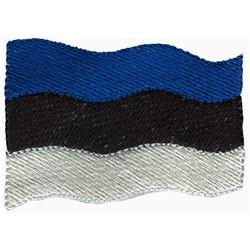 Estonia Flag embroidery design