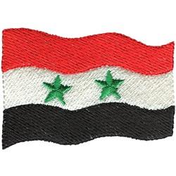 Syria Flag embroidery design