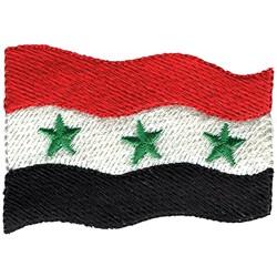 Iraq Flag embroidery design