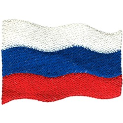Russia Flag embroidery design
