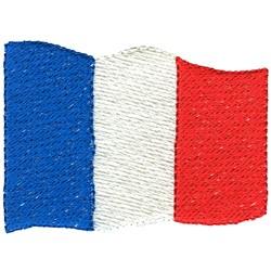 France Flag embroidery design