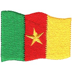 Cameroon Flag embroidery design