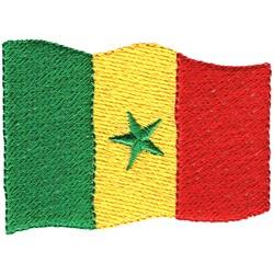 Senegal Flag embroidery design