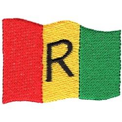 Rwanda Flag embroidery design