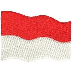 Indonesia Flag embroidery design