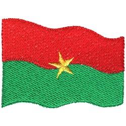 Burkina Faso Flag embroidery design