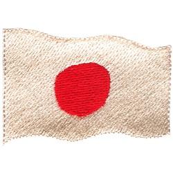 Japan Flag embroidery design