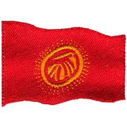 Kyrgyzstan Flag embroidery design