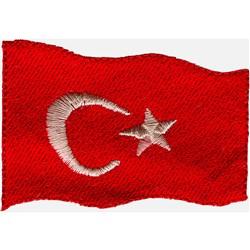 Turkey Flag embroidery design