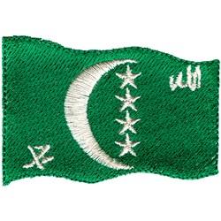 Comoros Flag embroidery design