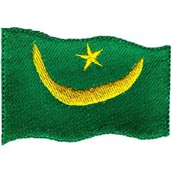 Mauritania Flag embroidery design
